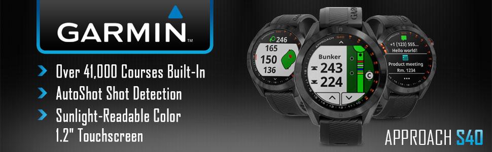 Amazon.com: Garmin Approach S40 - Reloj de golf (acero ...