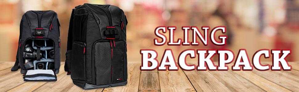 camera dslr gear bag professional custom padded travel lens body tripod storage waterproof sling top