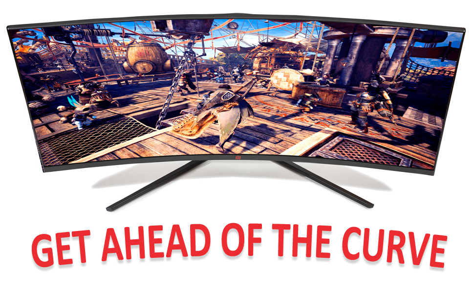 curved ultrawide monitor wide screen gaming led deco gear