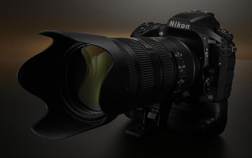 Nikon D810 36 3MP Digital SLR Camera + 24-120mm VR Lens Deluxe Power  Battery Grip Accessory Bundle