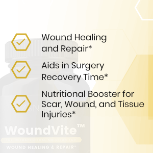 WoundVite - Wound Healing Supplement - The Most Comprehensive Wound, Scar,  Post-Surgical