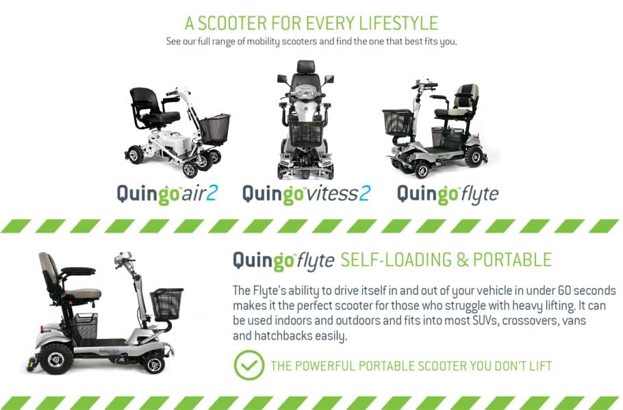 Amazon.com: quingo Flyte Scooter para personas con movilidad ...