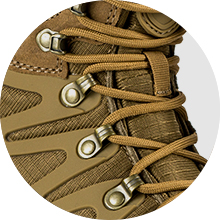 Nylon shoelaces with high quality copper holes