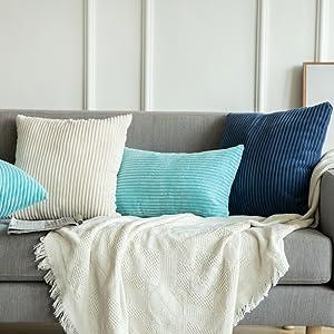 Amazon.com: Fundas de almohada MIULEE Corduroy: Home & Kitchen