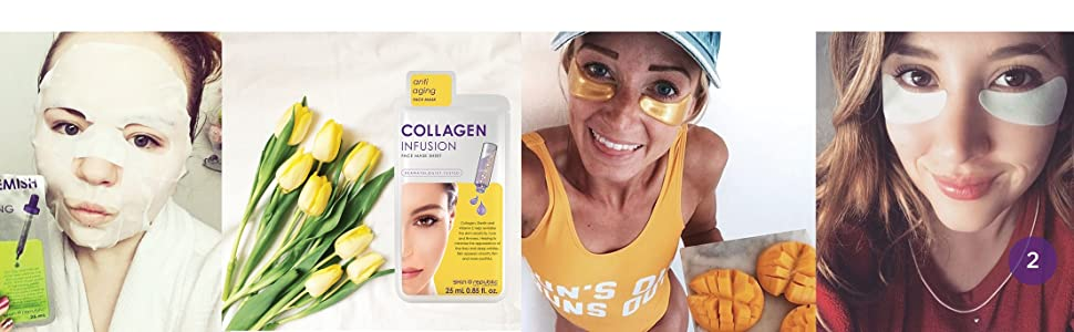 collagen anti-aging under eye blemish bags clear mask moisture sheet infusion charcoal brightening