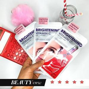 brightening bright moisture vitamin c moisture serum mask pores nose natural clear europe korea eye