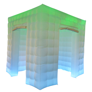 Amazon.com: sayok LED Photo Booth Enclosure inflable con 17 ...