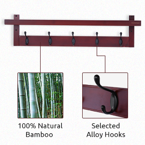 bamboo coat rack shelf