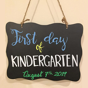 fist day of school sign