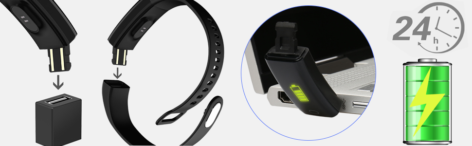 How to charge the fitness tracker?