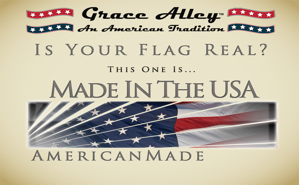 amazon com grace alley american flag american made 3x5 ft us flag