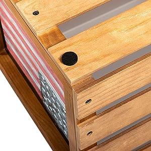 vinyl record storage crate felt floor protectors