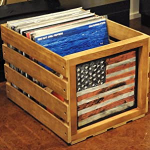 crate for records vinyl storage