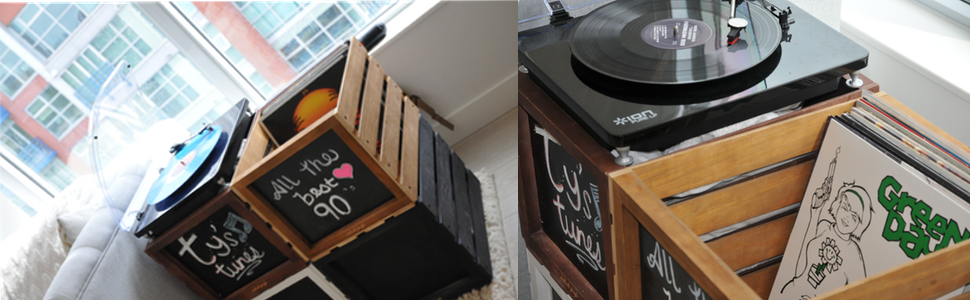 vinyl record storage crates crates lps vintage wood wooden