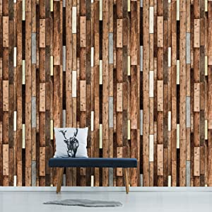 Contact Paper By Fancy Fix Peel And Wood Grain Wallpaper Sticker For Wall Furniture 17 7in118in Wood