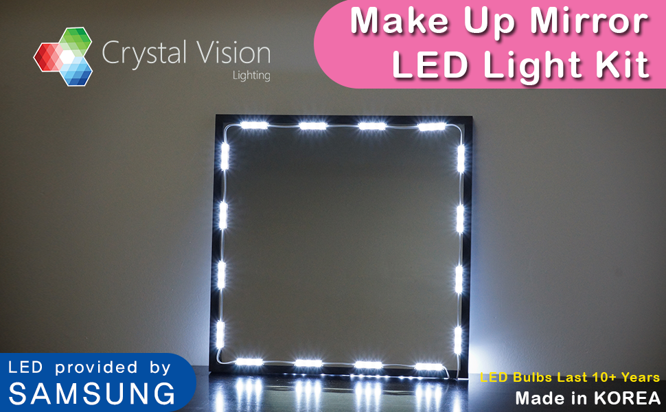 Amazon Com Crystal Vision Make Up Mirror Led Light Kit
