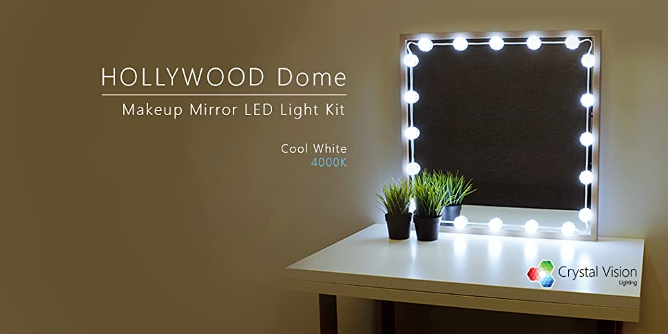 Amazon crystal vision make up mirror led light kit provided by crystal vision led mozeypictures Gallery
