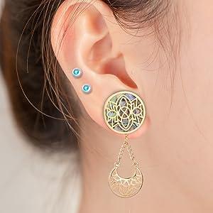 Amazon.com: Topbright, dilatador de oreja de acero ...