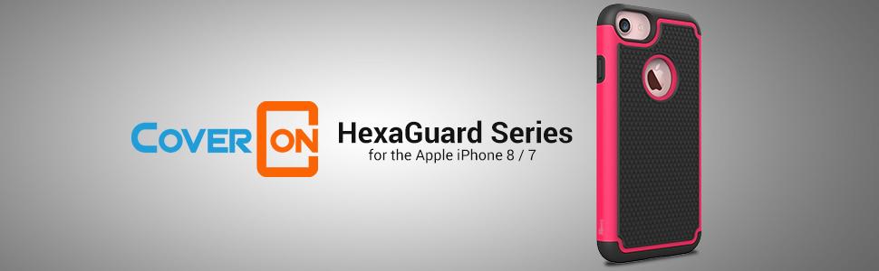 Amazon.com: iPhone 7 Caso, coveron® [hexaguard Series] Slim ...
