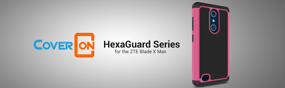 Amazon.com: ZTE Blade X Max Caso, coveron [hexaguard Series ...