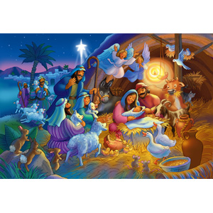 Vermont Christmas Company Heavenly Night Kid S Jigsaw Puzzle 100 Piece