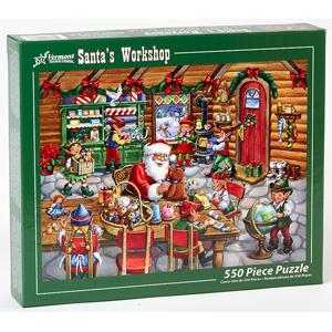 1981 HALLMARK AMBASSADOR SANTA MERRY CHRISTMAS 500 PIECE JIGSAW PUZZLE /& BOX