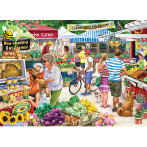 Vermont Christmas Company Farmers Market Jigsaw Puzzle 1000 Piece