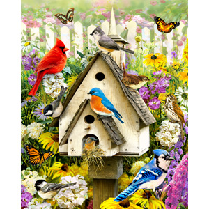 puzzle, jigsaw puzzle, bird puzzle, birds puzzle, flower puzzle, puzzle for adults, 1000 pieces