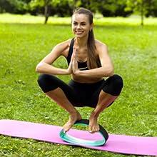 Amazon.com : Solofit Double Radian Yoga Wheel ...