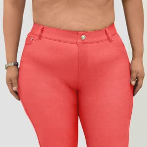 ae5db77e09 No Muffin Top or Bulges Solid Colored Jean Legging Jegging Functional  Pockets