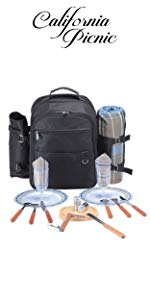 Picnic Backpack for 2 Hiking Backpack Insulated