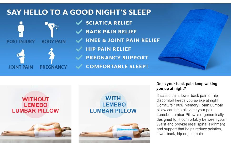 Amazon.com: Almohada de dormir para dolor de espalda baja ...