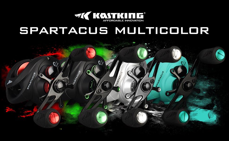 Amazon.com: KastKing Spartacus - Carrete de cebo de bajo ...