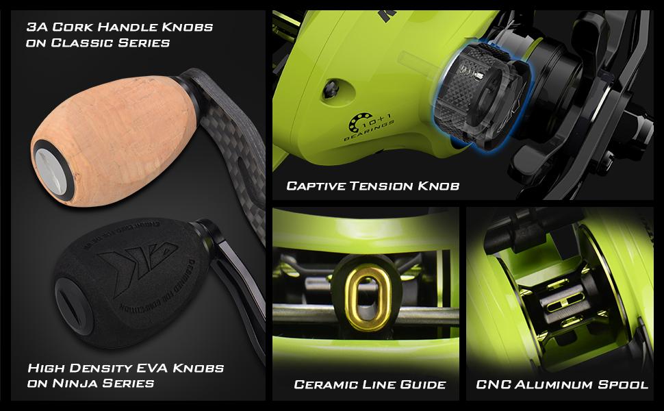 KastKing Bassinator Elite Baitcasting Reels, Palm Perfect Baitcaster Fishing Reel, Aluminum Frame, 10+1 Double Shielded SS BB, Centrifugal Brakes, ...