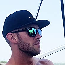Matte Demi Frame KastKing Skidaway Polarised Sport Sunglasses Smoke Lens
