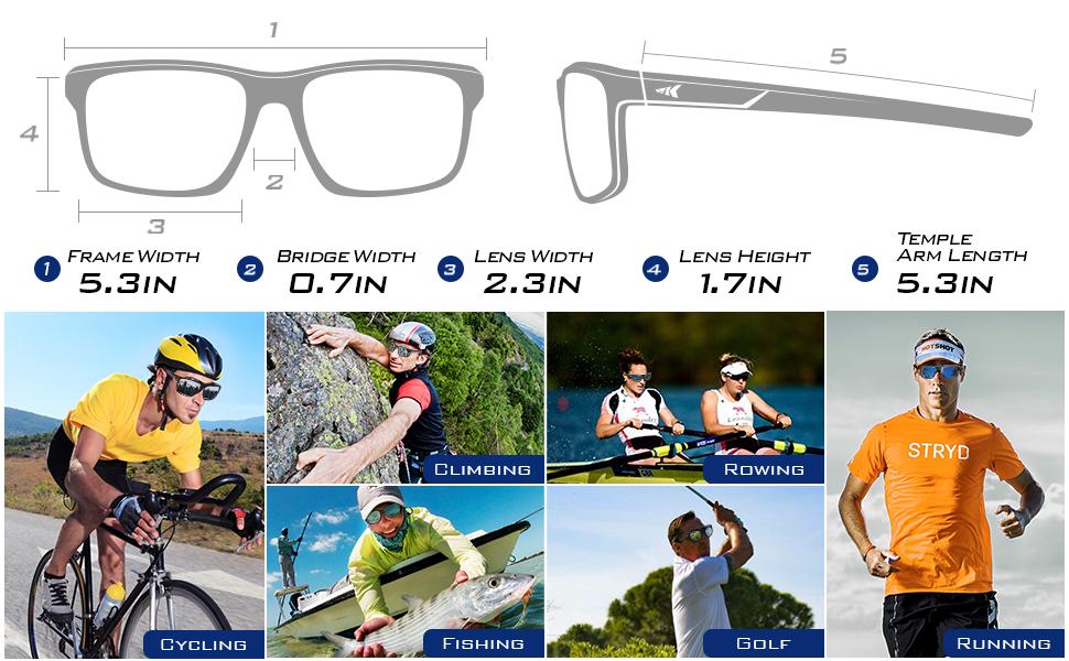KastKing Toccoa Polarized Sport Sunglasses