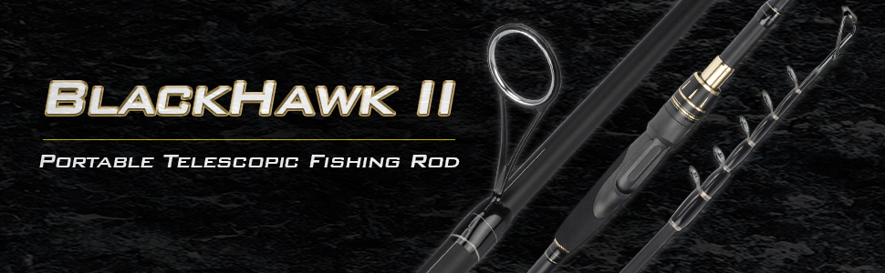 KastKing BlackHawk II Telescopic Fishing Rods,Casting Rods