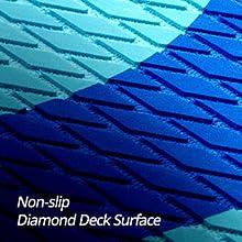 Non-slip Diamond Deck Surface
