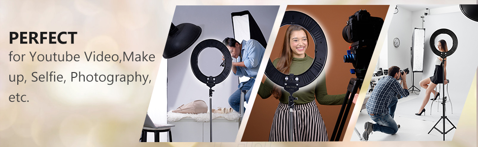 led ring light video light studio light photo lighting kit make up light selfie light youtube Light