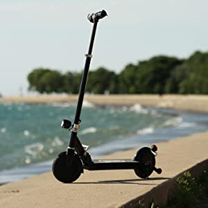 scooter by the beach