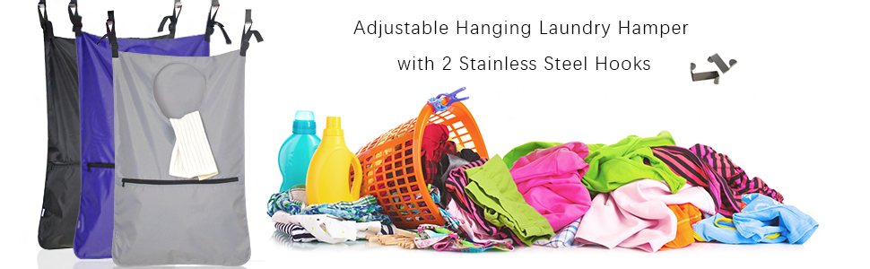 hanging laundry hamper