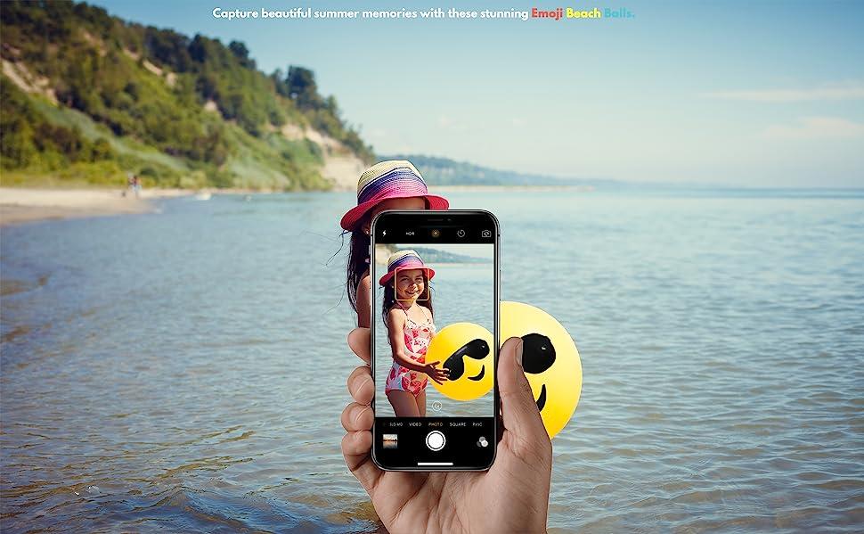 Amazon.com: Pelotas de playa inflables de emoji de 16 ...