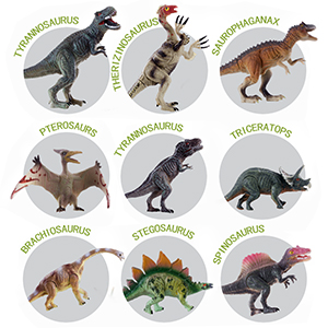Plastic Toy Dinosaur 100% High Quality Materials 1986 Triceratops Hard Rubber Animals & Dinosaurs
