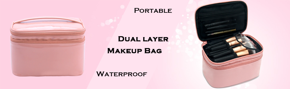 dual layer makeup bag