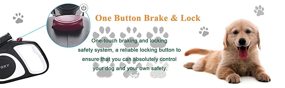 One-touch braking and locking safety system