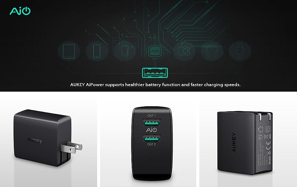 Amazon.com: AUKEY Cargador de pared USB, ultra compacto de ...