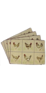 chickens table mat