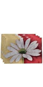 flower daisy placemat