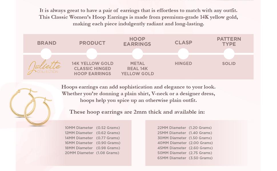 valentines day gold jewelry 14k gold hoop earrings jewelry set fine jewelry for women