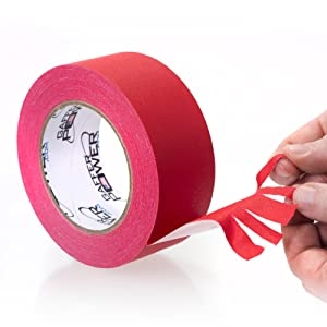 red tape, red gaffer tape